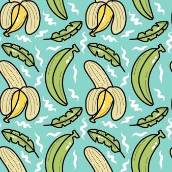 Modèle sans couture de doodle banane
