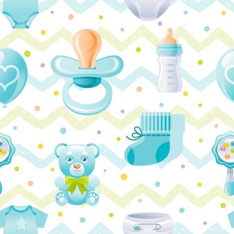 Modèle sans couture de douche de bébé garçon