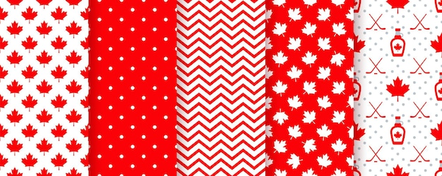Modèle sans couture du canada. illustration vectorielle. bonnes textures de la fête du canada avec feuille d'érable.