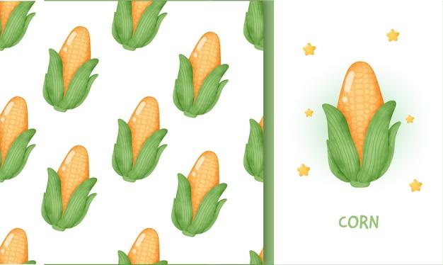 Modèle sans couture avec du maïs.