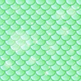 Modèle sans couture d'écailles de poisson vert pastel