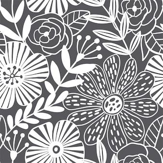 Modèle sans couture d'élégance abstraite avec fond floral