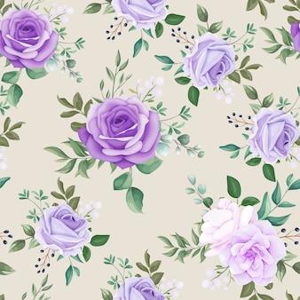 Modèle sans couture élégant floral