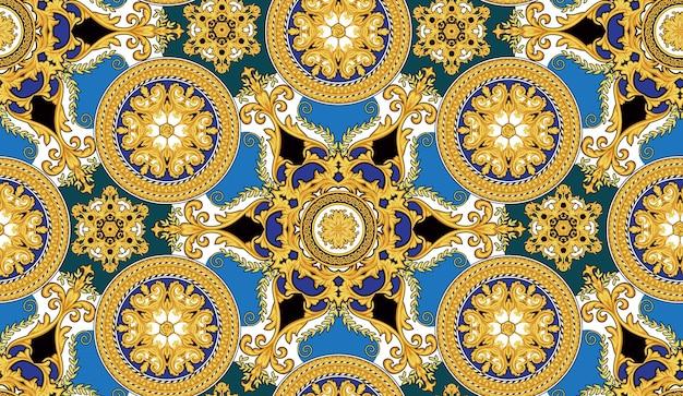 Modèle sans couture avec éléments baroques 1