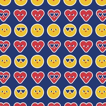 Modèle sans couture emojis