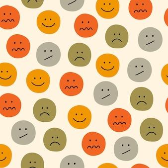 Modèle sans couture avec des émoticônes modèle sans couture d'icône de sourire de vecteur illustration vectorielle coloré