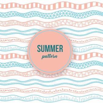 Modèle sans couture d'été