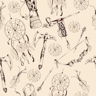 Modèle sans couture ethnique amérindien