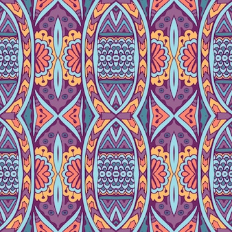 Modèle sans couture ethnique. fond tribal. style aztèque et indien, impression vintage.