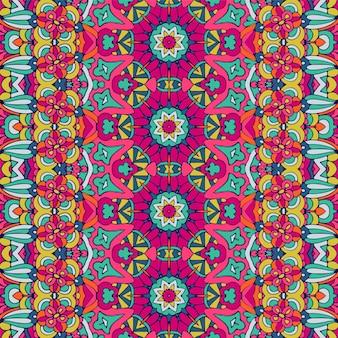 Modèle sans couture ethnique géométrique abstrait coloré