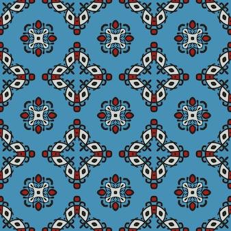 Modèle sans couture ethnique tribal coloré