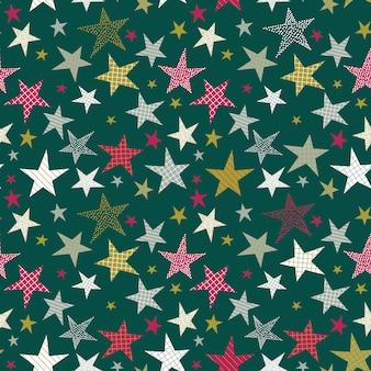 Modèle sans couture avec étoiles décoratives