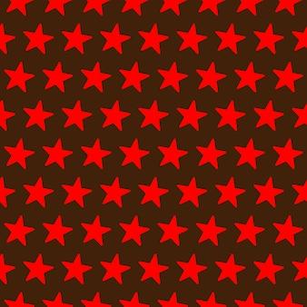 Modèle sans couture avec étoiles rouges