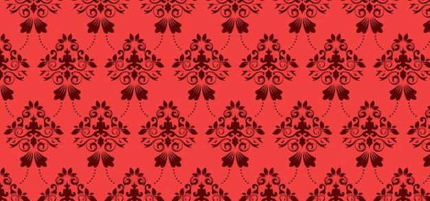 Modèle sans couture européen pour la conception, bannière rouge