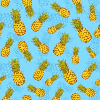 Modèle sans couture exotique ananas