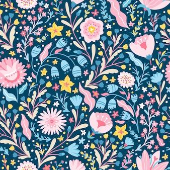 Modèle sans couture fabuleux floral