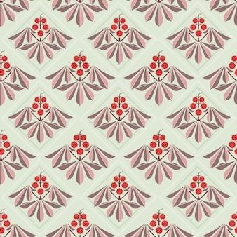 Modèle sans couture de feuille fleurs abstraites.