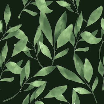 Modèle sans couture de feuille verte