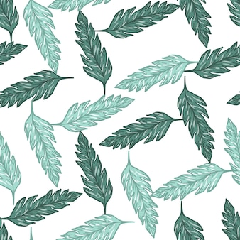 Modèle sans couture de feuilles abstraites. fond floral vintage. illustration vectorielle contemporaine. pour la conception de tissus, l'impression textile, l'emballage, la couverture