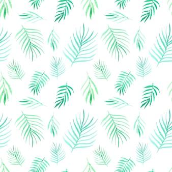 Modèle sans couture avec feuilles aquarelle. illustration vectorielle