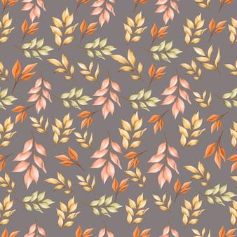 Modèle sans couture de feuilles d'automne