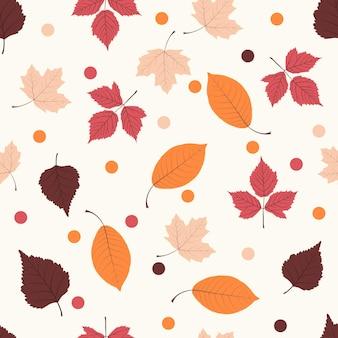 Modèle sans couture avec des feuilles d'automne