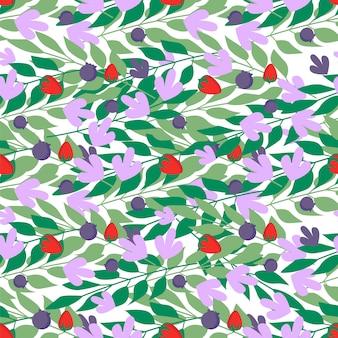 Modèle sans couture de feuilles à base de plantes