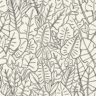 Modèle sans couture de feuilles. conception graphique avec une feuille incroyable. mode, intérieur, emballage, emballage approprié.