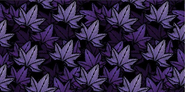 Modèle sans couture de feuilles d'érable pourpre