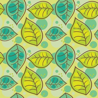 Modèle sans couture avec des feuilles d'été