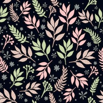 Modèle sans couture de feuilles florales
