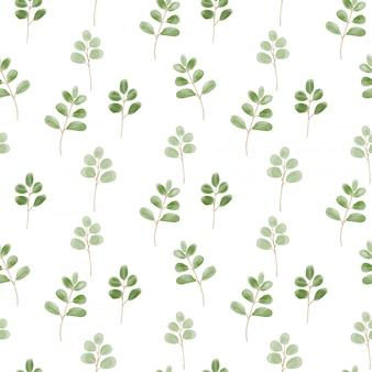 Modèle sans couture avec des feuilles mignonnes