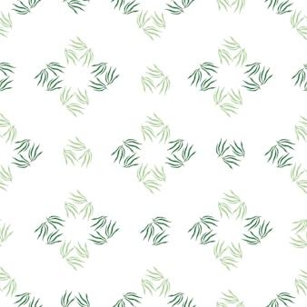 Modèle sans couture de feuilles modernes.