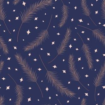 Modèle sans couture de feuilles de palmier sec
