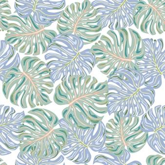 Modèle sans couture de feuilles de palmier tropical de mode.