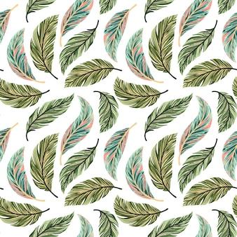 Modèle sans couture de feuilles de palmier tropical