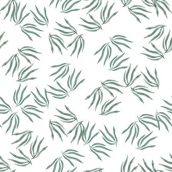 Modèle sans couture de feuilles tropicales d'été. feuille tropique abstraite