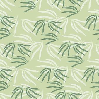 Modèle sans couture de feuilles tropicales. feuille tropique abstraite sur fond vert.