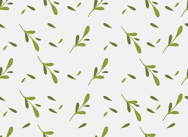 Modèle sans couture de feuilles tropicales sur fond blanc.