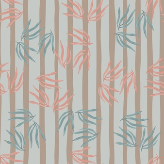 Modèle sans couture de feuilles tropicales rétro.