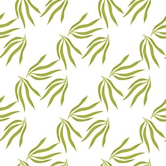 Modèle sans couture de feuilles tropicales simples. papier peint hawaïen exotique.