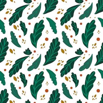 Modèle sans couture de feuilles vertes