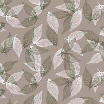 Modèle sans couture de feuilles.