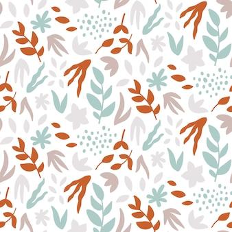 Modèle sans couture avec des feuilles.