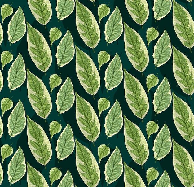 Modèle sans couture avec des feuilles