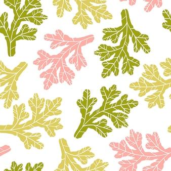 Modèle sans couture feuillu floral.