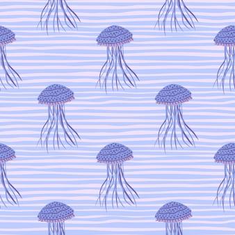 Modèle sans couture de figures de méduses simples.