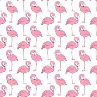 Modèle sans couture de flamant rose.