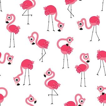Modèle sans couture de flamant rose
