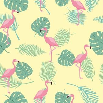 Modèle sans couture flamingo
